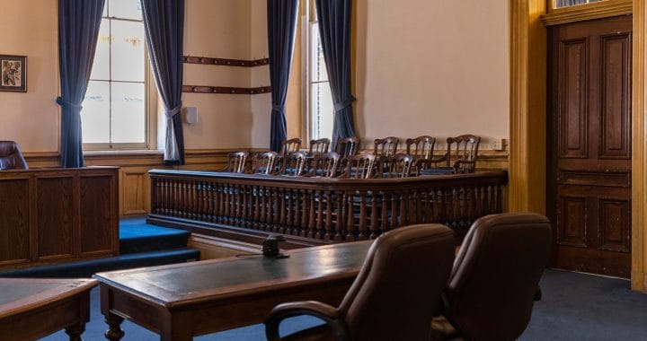 image of a courtroom