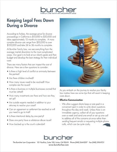 Keeping Legal Fees Down During a Divorce