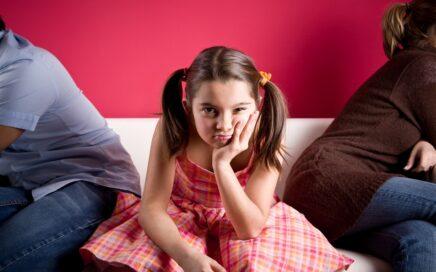 Little Girl Bored in Family Gathering